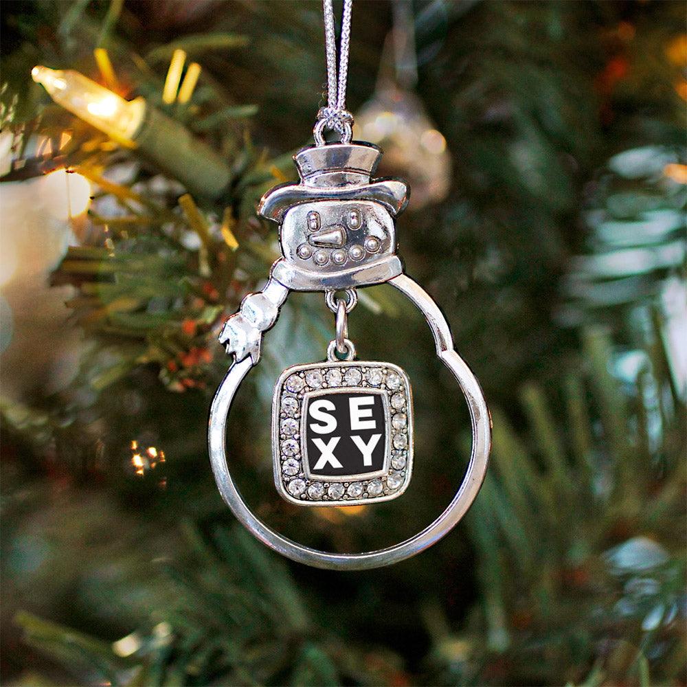 Sexy Square Charm Christmas / Holiday Ornament