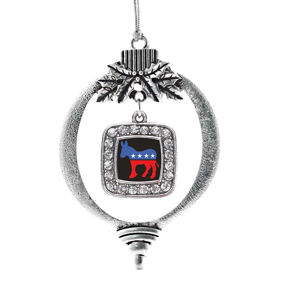 Democrat Square Charm Christmas / Holiday Ornament