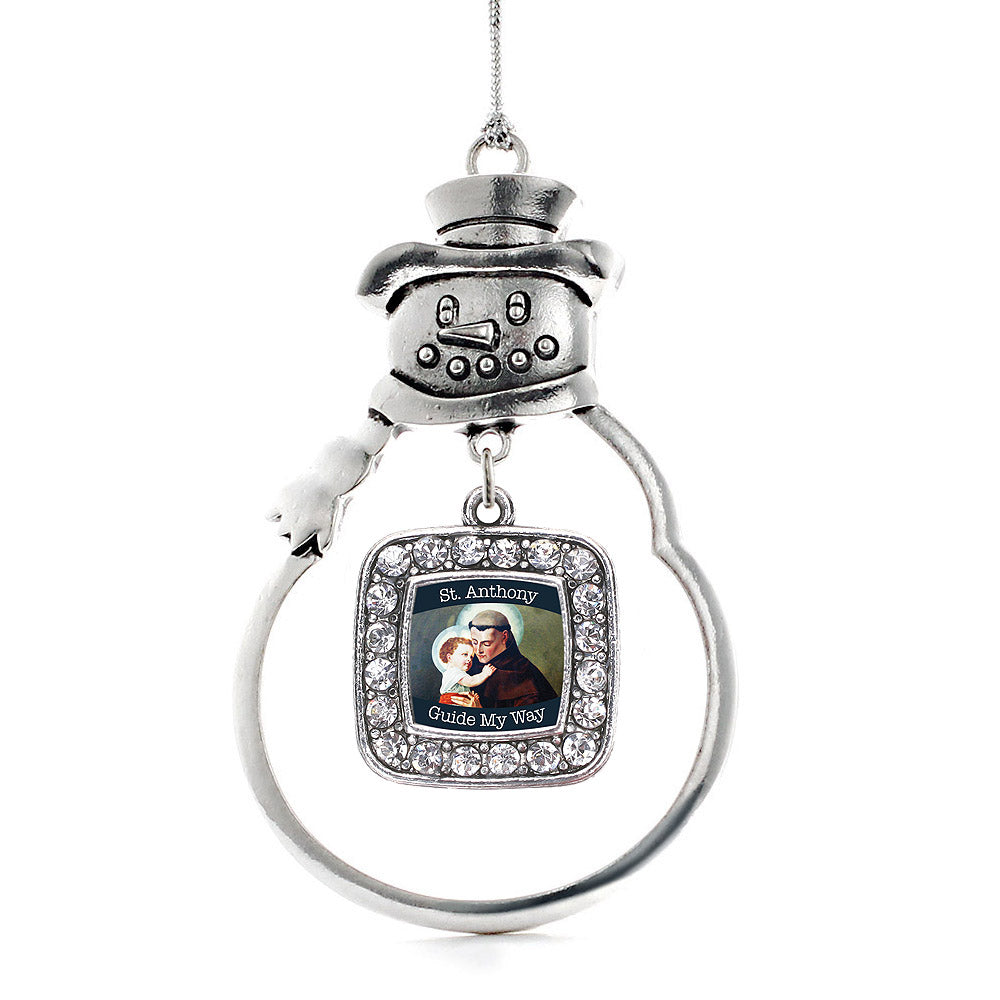 St. Anthony Square Charm Christmas / Holiday Ornament
