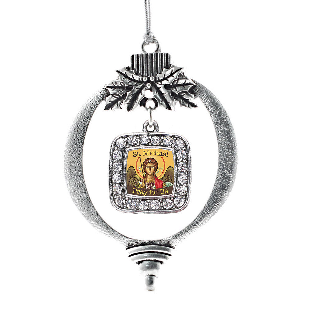 St. Michael Square Charm Christmas / Holiday Ornament