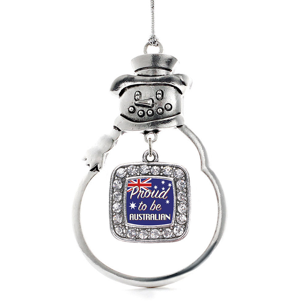 Proud to be Australian Square Charm Christmas / Holiday Ornament