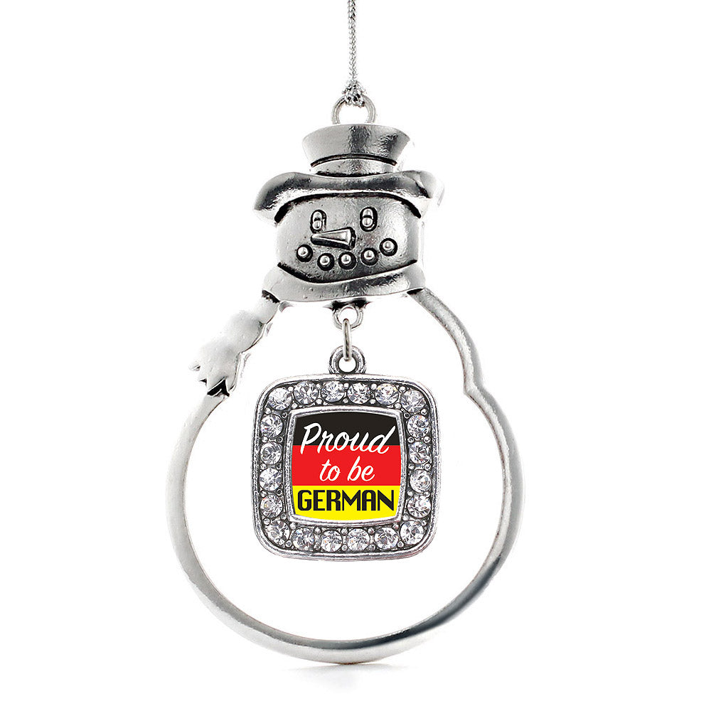 Proud to be German Square Charm Christmas / Holiday Ornament