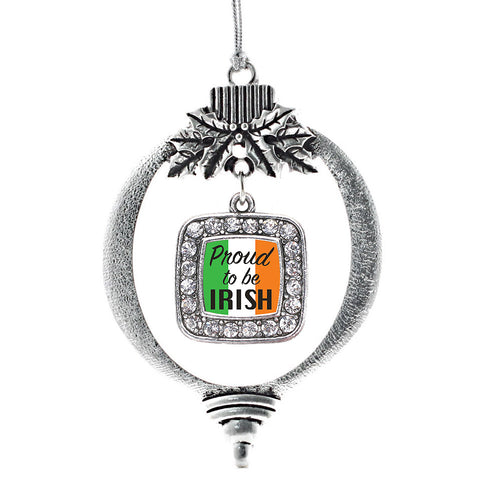 Proud to be Irish Square Charm Christmas / Holiday Ornament