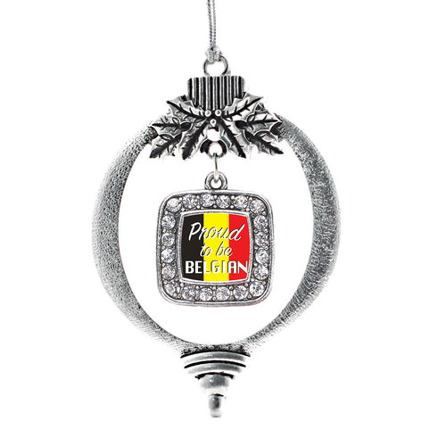 Proud to be Belgian Square Charm Christmas / Holiday Ornament