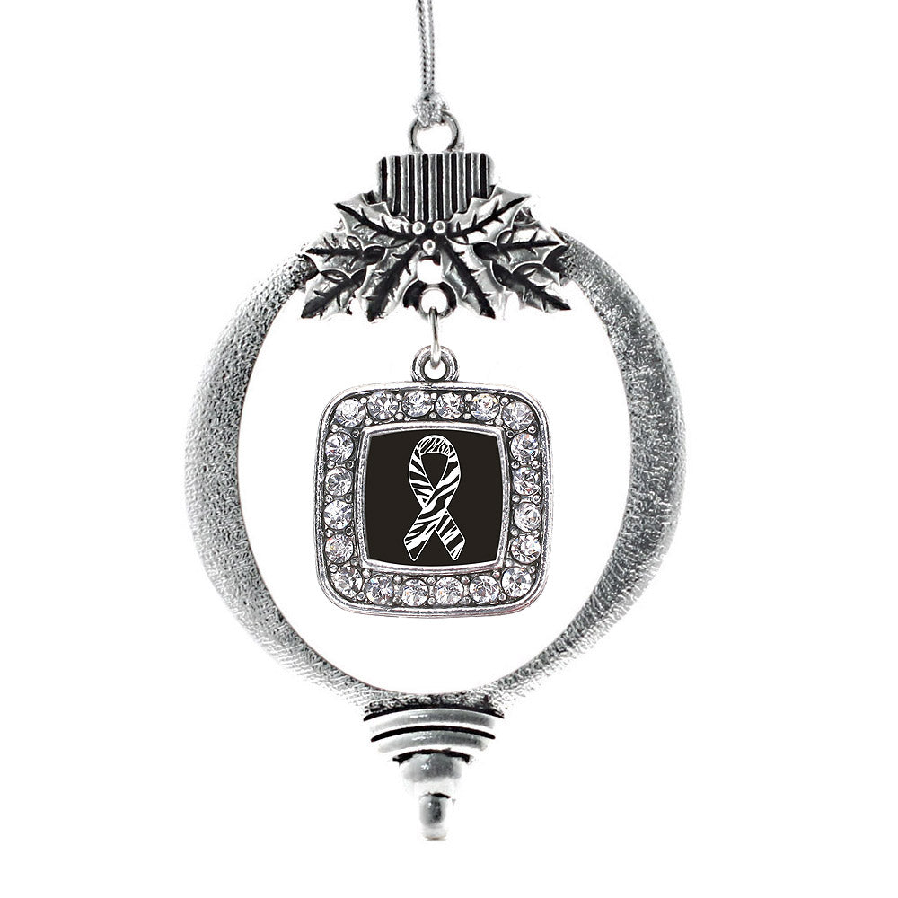 EDS Awareness Square Charm Christmas / Holiday Ornament