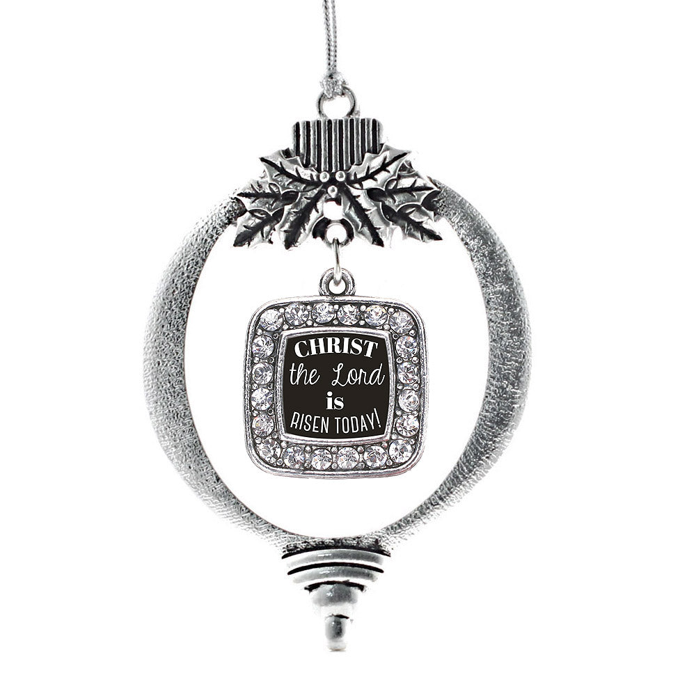 The Lord is Risen Today Square Charm Christmas / Holiday Ornament