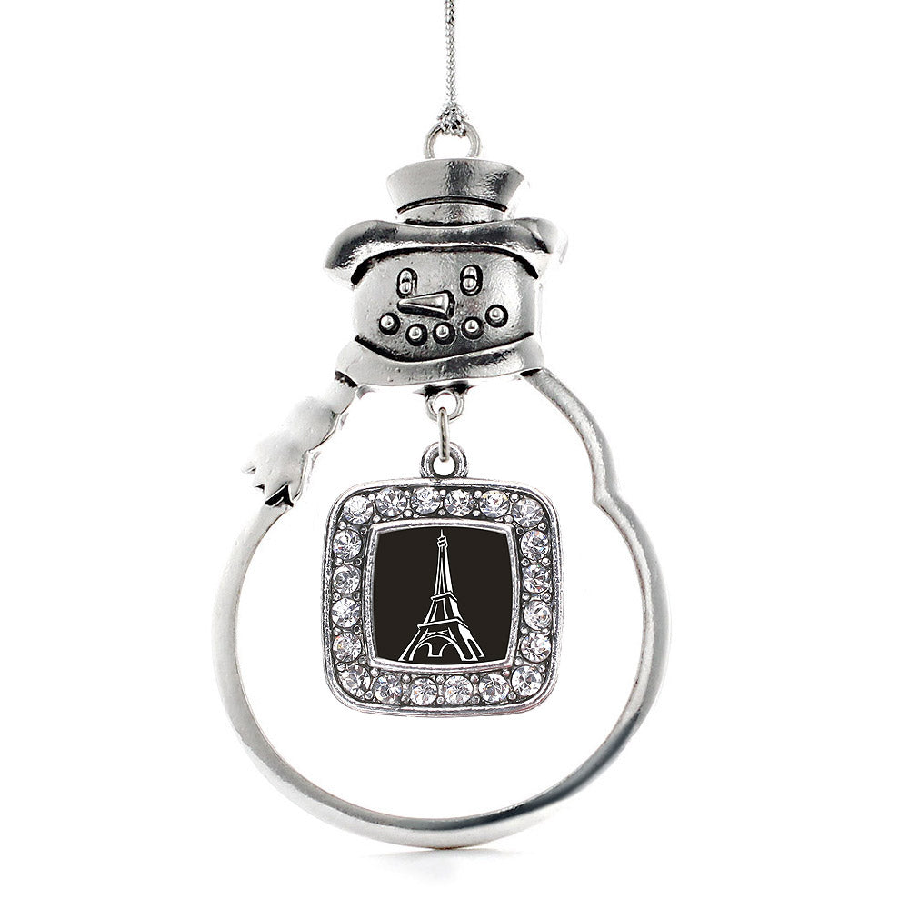 Eiffel Tower Square Charm Christmas / Holiday Ornament