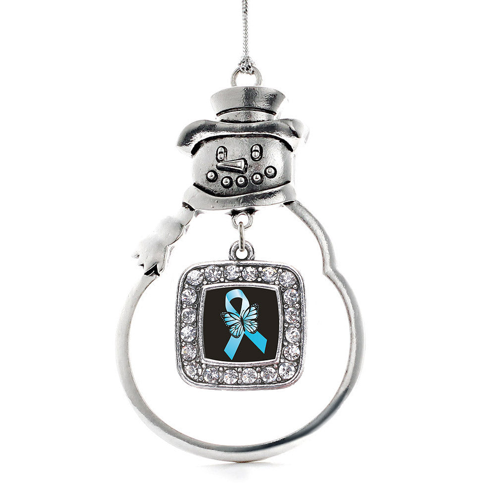Addiction Recovery Square Charm Christmas / Holiday Ornament