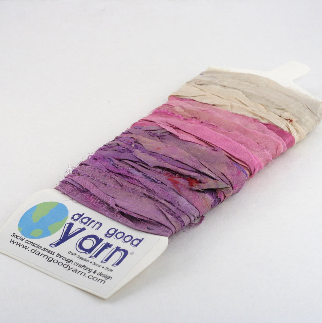 Yarn & Ribbon 3 Color Sample Cards - Flower Patch