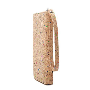 Lam Gallery Vegan Cork Wallets Purse Handbags for Womens Eco Friendly Durable Cork Clutch Bag (Colorful)