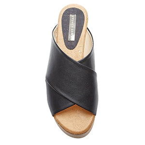 Sydney Brown Womens Cross Sandal Black 37
