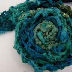 45 Minute Reclaimed Sari Ribbon Scarf Knit Pattern