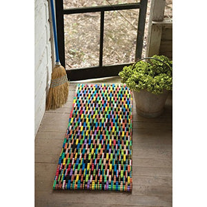 Kalalou Recycled Flip Flop Large Rectangle Mat