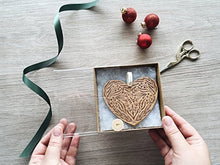 Floral Heart Laser Cut Wood Ornament (Christmas / Holiday / Personalized Available / Anniversary / Newlyweds / Keepsake)
