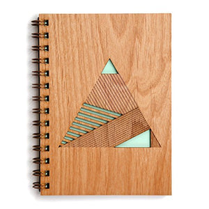 Geometric Pyramid Laser Cut Wood Journal (Notebook / Birthday Gift / Gratitude Journal / Handmade)