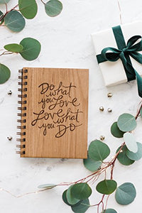 Do What You Love Laser Cut Wood Journal (Notebook / Birthday Gift / Gratitude Journal / Handmade)