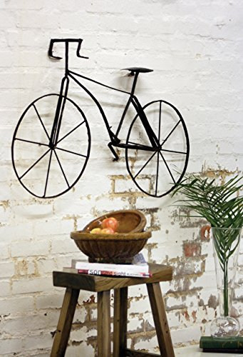 Kalalou Scrap Metal Bicycle Wall Sculpture