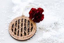 Birch Trees Laser Cut Wood Ornament (Christmas / Holiday / Personalized Available / Keepsake / Tradition)