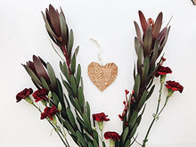Patchwork Heart Laser Cut Wood Ornament (Christmas / Holiday / Personalized Available / Anniversary / Newlyweds / Keepsake)