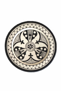 Safi Black Dinner Plates (Set of 4)