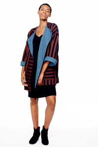 Blanket Coat in Outlaw rev. Promenade
