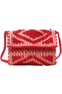 Suni Rombi Red Clutch & Cross Body Bag