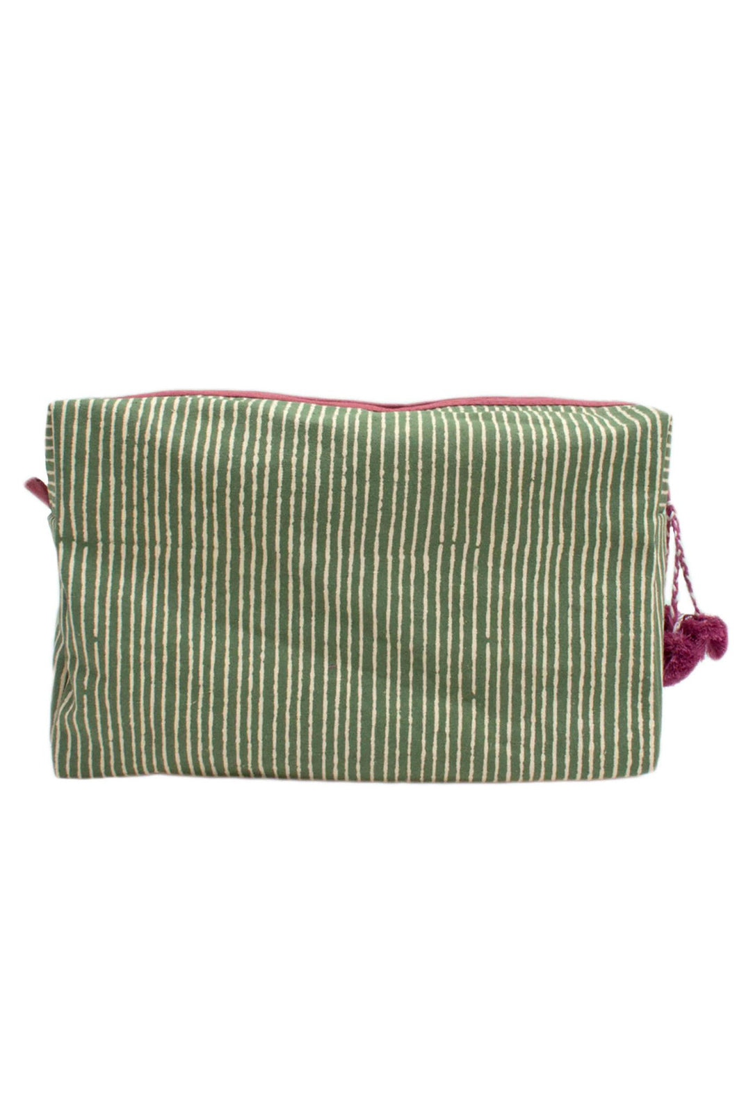 Stripe Green Washbag