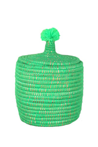 Moroccan Neon Green Wool Pot