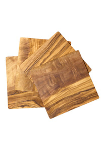 Olive Wood Coasters - Set of 4