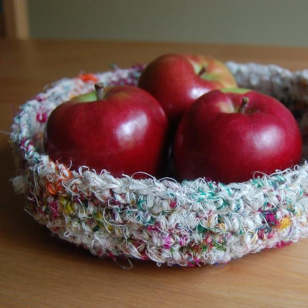 Rustic Linen Silk Basket Crochet Kit