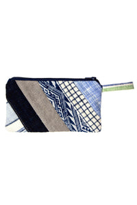 Patched Stripe Purse