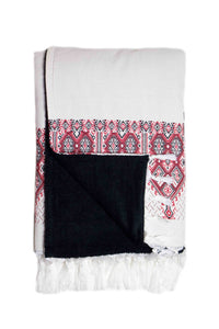 Plaka Red Beach Towel