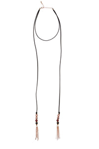 Cannes Burgundy Lariat