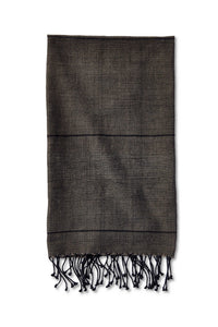 Dark Grey Striped Beach Towel