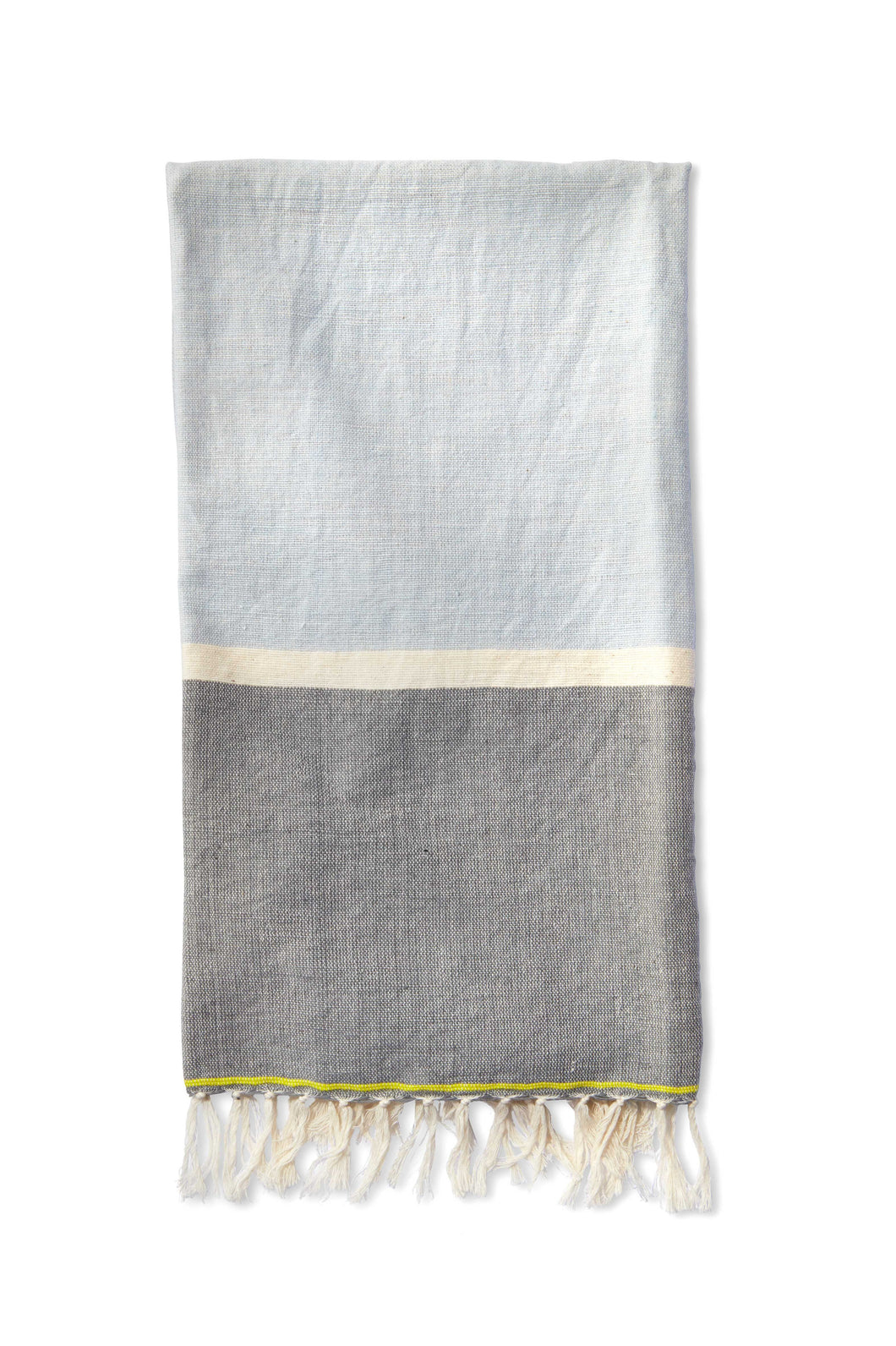 Light Blue Cotton Beach Towel