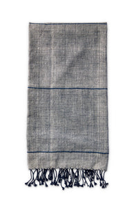 Light Grey Striped Cotton Beach Towel