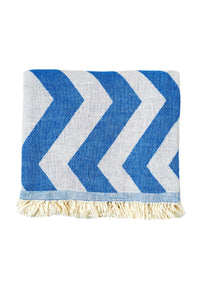 Chevron Denim Towel