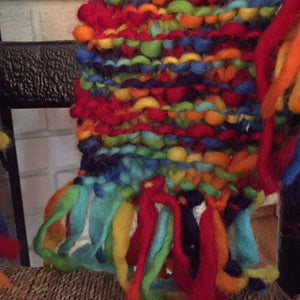 Mini Rainbows Matching Knit Scarf Kit for Kids