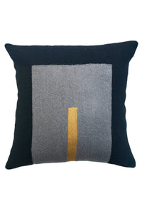 Black Daphne Square Pillow