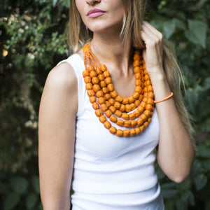Sari Silk Necklace + Free Sustainably Sourced Storage Pouch