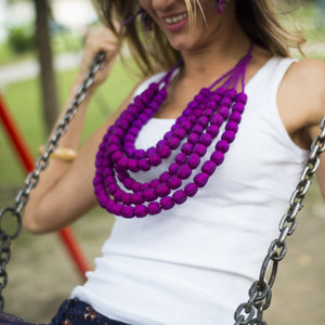 One-of-a-Kind Sari Silk Necklace