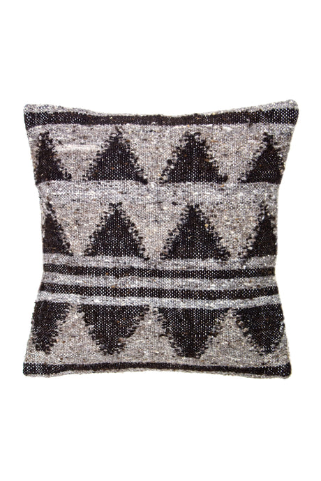 Stripes & Triangles Wool Pillow