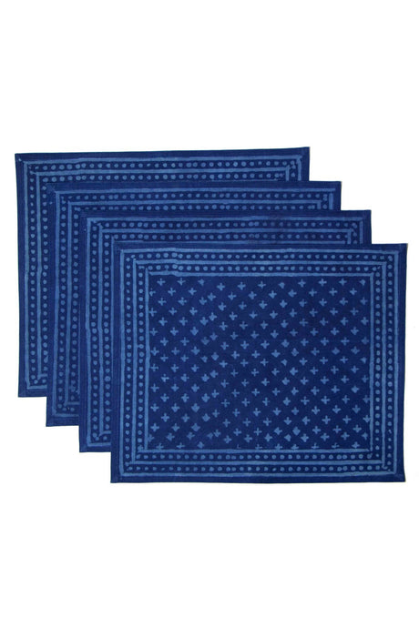 Talika Block Print Indigo Placemats (Set of 4)