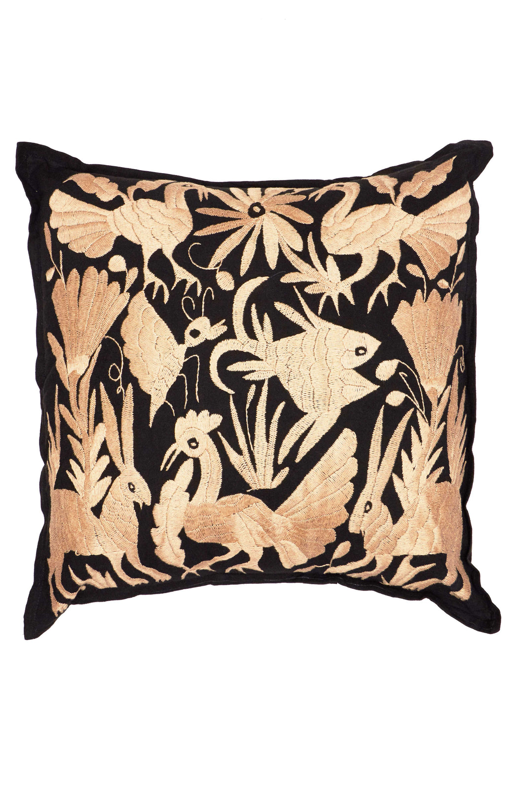 Otomi Black Pillow