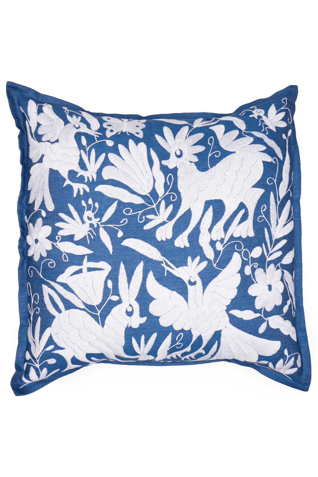 Otomi Blue & White Pillow