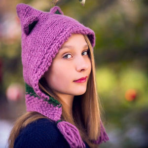 Forest Friends Yak Wool Hats Knit Kit