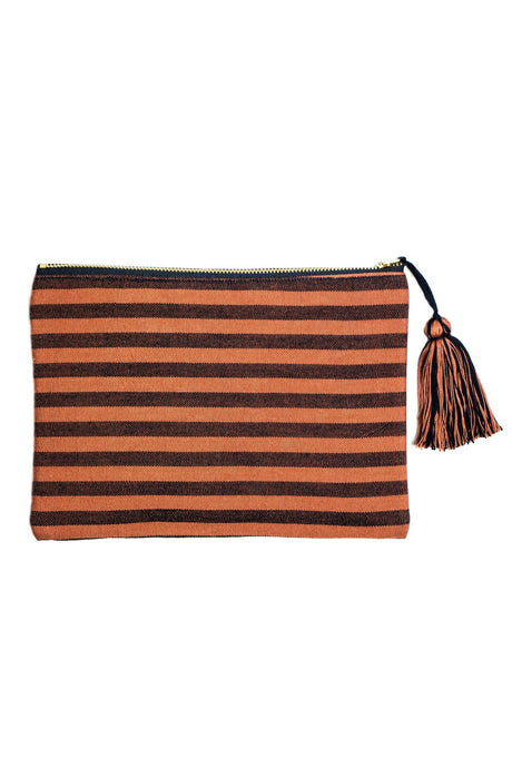 Copper Stripe Simple Clutch