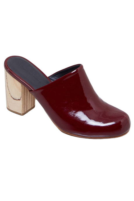 Asher Rosewood Patent Leather Heeled Mule