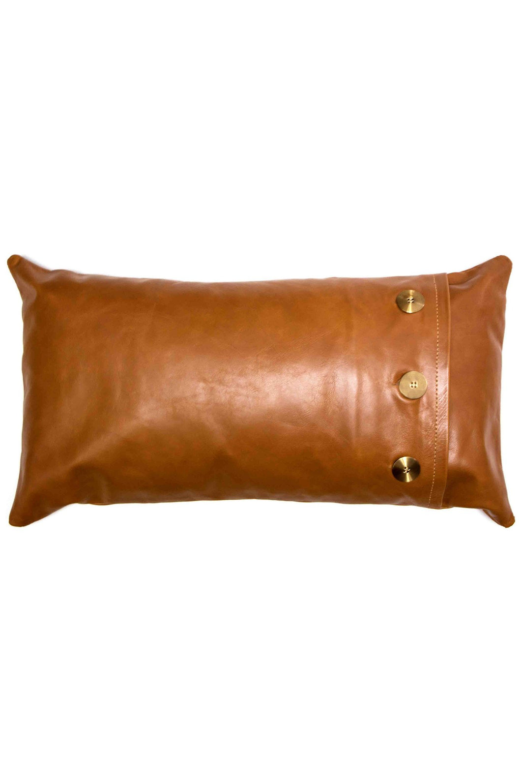 Leather Safari Lumbar Pillow