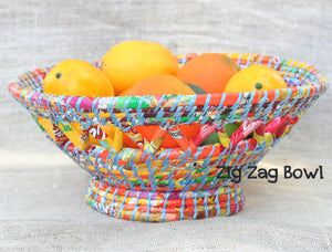 Fruit Bowl - Serving Tray - Waste Basket - Handmade from Trash